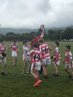 Under 12 Beara Final - soaking of Trainer John Joe