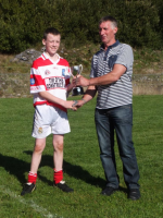 U16 Presentation to Winning Captain of County Final October 2014
