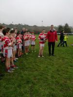 U12 Captain receiving West League Trophy