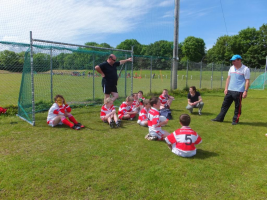 Under 10 Blitz Bantry June 2014 Team talk