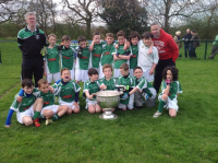 U10s Team with Sam Maguire Cup
