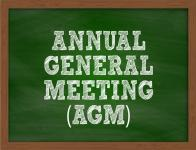 AGM takes place on 26th of November at 8pm