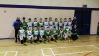 St Peter's U13 Boys receive new jerserys from Gary O'Brien of Perfect Homes