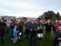 Chidoze presented with man of the Match trophy