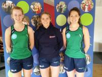 Co Captains Emma Magee and Jenny Lewis, with VC Rebecca McCullough