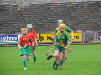 Action from the Camogie Rackard League Final