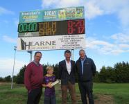 Shay Hammel & Colm Hearne sponsor new scoreboard