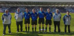 Macroom official at Munster Minor Football Final 2018
