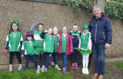A St Pat's Day Girls U-8 picture, 2017