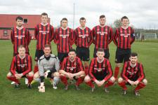 Ringmahon Rangers team who drew 1 - 1 with Letterkenny Rovers in the Semi-Final of the FAI Intermediete Cup
