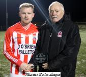 Castleview v Riverstown-Michael Foley presents the Man of the match award to Coner O'Mahoney Castleview