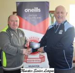 Sean O' Sullivan presents the O' Neills Club of the week to Paul Lynch Everton