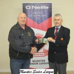 John Lyne presenting ONeills Club of the week voucher to Ken Doyle Bandon