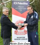 John Lyne presents John Murray Glasheen with O'Neils club of the week voucher