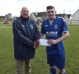 Ballincollig-Donal Lenihan presents man of the match award to Colin Harte Wilton, Ballincollig v Wilton