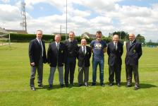 Martin O'Neill and Roy Keane at Rockmount Park 2015