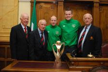 Lord Mayor's Chris O Leary reception to honour Ken Hoey and Brendan O Connell's contribution to Irelands winning of Regions Cup