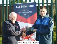 Peader O'Leary MSL, presents the O'Neills Club of the week voucher Daire Coughlan  Ballinhassig