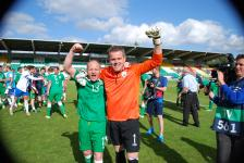 Capt Ken Hoey and Goalkeeper Brendan O'Connell