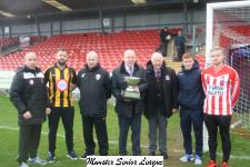 Representatives from Castleview & Cobh Wanderers at Turners Cross with Tony Murphy, MSL and Pat Keane, Keans Jewellers, Sponcers