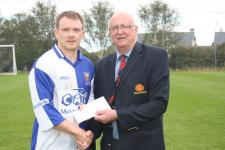 College Cors-match of week presentation by Donal Lenihan to Ritchie Cronin College Corinthians v Ringmahon Rgs A