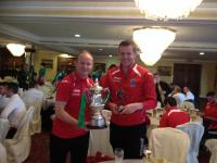 MSL Michael Ward inter-League Captain Ken Hoey with player of the tournament Brendan O'Connell