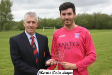 Glasheen v Ballinhassig - John Lyne presents the man of the match award to David Crotty Ballinhassig