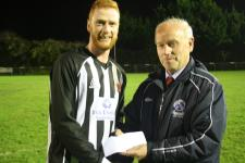 Passage v Midleton-Barry Gould presenting man of match award to  Ian o Donoughue Midleton