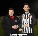 Midleton v Mayfield-Barry Cotter MSL presents the Man of the Match award to Kevin Murray Midleton
