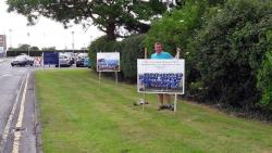 Eric erects photos of our successful Boys and Girls Feile Teams at Westmanstown