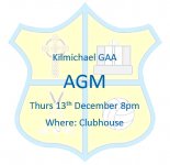 Kilmichael AGM - 13th December