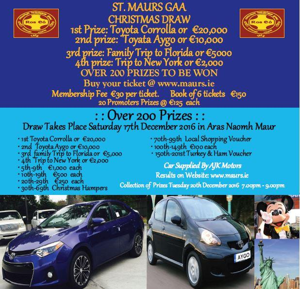 Image result for st maurs christmas draw