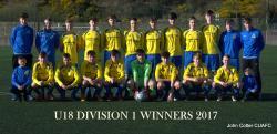 U18 Division 1 Winners 2017
