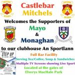 Welcoming the Supporters of Mayo and Monaghan to An Sportlann