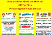 BUSY WEEKEND AHEAD FOR THE CLUB