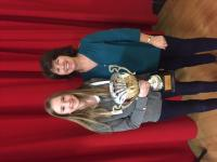 Caoilinn Gaughan, Castlebar Mitchels representative, Mayo Scor solo singer winner with tutor Alacoque