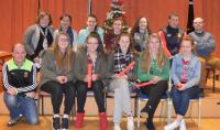 Under 16's pictured with mentors Fintan Keane, Mary Brown, Colette Tuohy and Ronan Kennelly. Also Eoghan O'Reily.