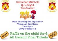 Fundraising Table Quiz with a raffle for All Ireland Final Tickets