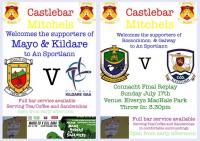 Welcoming the supporters of Mayo, Kildare, Roscommon and Galway to An Sportlann this weekend