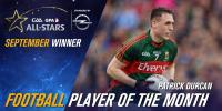 Congratulations to Paddy Durcan who is the Football Player of the Month for September