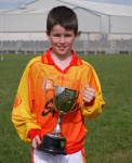 Johnathan with the U12 cup from winning the Sligo blitz 5/6/2010