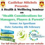 Health and Wellbeing Seminar on February 4th
