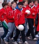 Who got most cheers during the parade - U16s I think