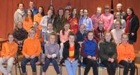 Under 12's pictured with mentors Anita Gibbons, Mike O'Boyle, Terry Pattinson and Siobhan Henehan.