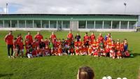 U-8's at End of Season Training Meeting Their Heroes