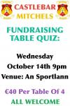 Table Quiz October 14th at 9pm