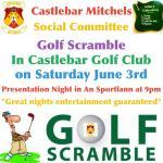 Social Committee Golf Scramble on Saturday 3rd June
