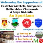 Welcoming the supporters of the county semi finalists into An Sportlann