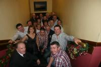 Bord Na Nog Coaches queue for Christmas party Dec 2010