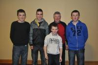 1st placed team in Annual bord Na Nog table quiz, Jan 2012
